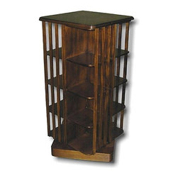 EuroLux Home - New Bookcase Mahogany Revolving 8-Shelf - Product Details