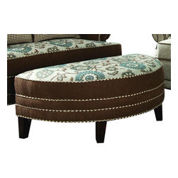 Chelsea Home Furniture - Chelsea Home Corrina Half Moon Ottoman in Voyager Cobblestone - Brown Eyed Girl - Corrina Half Moon Ottoman in Voyager Cobblestone - Brown Eyed Girl belongs to the Chelsea Home Furniture collection