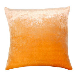 shopMACK - Aranzhev Velvet Pillow, 26x26 - Cuddle up in style with our new pillow – the Aranzhev Velvet Pillow! Constructed from both silk and velvet, this orange pillow is both fashionable and comfortable with its orange tones and soft texture.