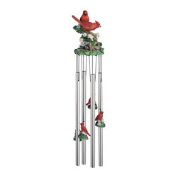 GSC - Wind Chime Round Top Cardinals Hanging Garden Decoration Windchime - This gorgeous Wind Chime Round Top Cardinals Hanging Garden Decoration Windchime has the finest details and highest quality you will find anywhere! Wind Chime Round Top Cardinals Hanging Garden Decoration Windchime is truly remarkable.