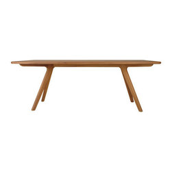 Charles Table by Nuans Design - For those who prefer a dining table of solid wood, the beautifully sculpted Charles Table offers just that in a hand-produced design sanded to perfection. With or without the companion bench, the Charles is modern yet warm and natural.