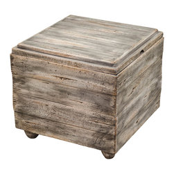 Uttermost - Uttermost Avner Wooden Cube Table - Avner Wooden Cube Table by Uttermost Constructed Almost Entirely Of Sustainable, Plantation-grown Mango Wood, This Bunching Table Offers Invaluable Storage And Style In An Elegantly Casual, Waxed Driftwood Finish. When Needed, The Reversible, Lift-off Top Becomes A Useful Serving Tray.