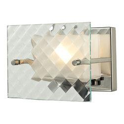 ELK Lighting - ELK Lighting 31415/1 Talmage 1 Light Bathroom Vanity Lights in Brushed Nickel - Talmage Collection 1 light bath in Brushed Nickel