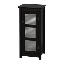 Windham Floor Towel Linen Storage Cabinet, Espresso - If you have the space, this espresso-colored wooden floor cabinet is a beautiful way to store towels. It hides the clutter away, and the glass panels add a stylish touch.