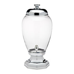 Godinger - Godinger Aristocrat 3 gal. Beverage Dispenser Multicolor - 88752 - Shop for Beverage Dispensers and Servers from Hayneedle.com! Handcrafted from crystal and metal the Godinger Aristocrat 3 gal. Beverage Dispenser is both practical and elegant. Perfect for indoor and outdoor parties this piece offers a memorable and convenient way to serve some of your favorite cold beverages to a crowd. This dispenser features durable crystal construction with a metal spigot and a removable lid that makes it easy to clean and refill. Hand washing is recommended.About GodingerBased in Ridgewood N.Y. Godinger has been creating distinctive kitchenware home decor and gifts for over 40 years. Hand-crafted from crystal pewter and silver Godinger's unique wedding gifts and home decor make any special occasion even more meaningful. From serving dishes and silverware to barware and centerpieces their wide tableware selection puts the art back into dining. Godinger is committed to providing excellent quality and style at affordable prices for every customer.