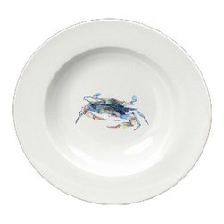 Caroline's Treasures - Blue Crab Blowing Bubbles Round Ceramic White Soup Bowl 8655-SBW-825 - Blue Crab Blowing Bubbles Round Ceramic White Soup Bowl 8655-SBW-825 Heavy Round Ceramic Soup Bisque Gumbo Bowl 8 3/4 inches. LEAD FREE, microwave and dishwasher safe. The bowl has been refired over 1600 degrees and the artwork will not fade or crack. The Artwork for this gift product and merchandise was created by Sylvia Corban copyright and all rights reserved.