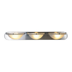 "AF Lighting - AF Lighting Bathroom Lighting Brushed Nickel Vanity Fixture 3 Light Strip - This is a brand new vanity light from AF Lighting (model # 617608). It is an open box, return item from a customer who ordered the wrong size. Refresh your bathroom's appearance with the unique styling of this contemporary vanity fixture in a beautiful brushed nickel finish. Uses (3) 100 watt medium base bulbs (not included). Fixture measures 36"" W by 4-5/8"" H, projects 6"". This light retails for $185.13."