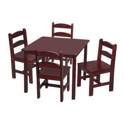 Gift Mark Square Table and Chair Set - 5 Piece - Your kids will love having their own space for art projects or bed time snacks with the Gift Mark Square Table and Chair Set. Featuring a square table and four chairs, there may even be room for their friends. Give your kids a seating space that really fits them and their needs.Please note this product does not ship to Pennsylvania.