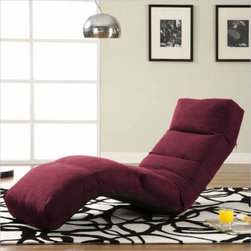 LifeStyle Solutions Jet Curved Chair Chaise Lounge - Light weight and versatile, the LifeStyle Solutions Jet Curved Chair with its cool and modern design is great for kid's room, dorm room, game room, or any room.