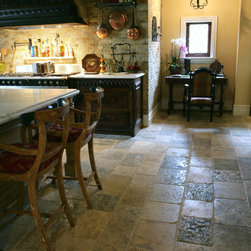 Stone Floors Antique 'Biblical Limestone' Reclaimed Tiles & Pavers - Antique Floors by 'Ancient Surfaces'