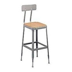 Lyon Adjustable-Height Industrial Stools, Dove Gray - I would use these at my bar as well as at my desk. They would be a great way to connect rooms and keep with the whole industrial look.
