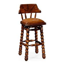 Jonathan Charles - New Jonathan Charles Bar Chair Walnut - Product Details