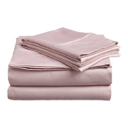 """300 Thread Count Egyptian Cotton King Lavender Stripe Bed Skirt - Our 300 Thread Count Bed Skirts add an updated look that brightens any bedding ensemble. They are composed of premium, long-staple cotton and have a """"Sateen"""" finish as they are woven to display a lustrous sheen that resembles satin. One Bed Skirt 78x80."""