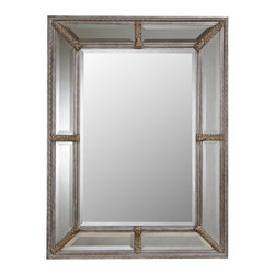 Bassett Mirror Company - Bassett Mirror Old World Roma Wall Mirror in Antique Silver Leaf - Roma Wall Mirror in Antique Silver Leaf belongs to Old World Collection by Bassett Mirror Company Bassett Mirror is fluent in this art, showing a terrific contemporary furniture that will satisfy on the one hand fans of home coziness, and on the other hand - seekers of non-standard design solutions also. One of the many strengths of the Bassett Mirror is using high quality materials for perfect embodiment of brilliant design ideas. Mirror (1)