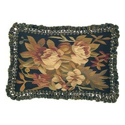 """EuroLux Home - New Aubusson Throw Pillow Handwoven 16""""x24"""" - Product Details"""