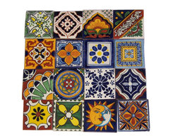 "Casa Daya Tile - 16 Hand Painted Made to Order Talavera Tile Set - Set of sixteen 4"" x 4"" tiles for your craft or construction project."