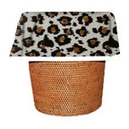 """Designerliners Inc. - Black Leopard Waste Basket Bags Decorative - Reusable - Biodegradable - 12 Pack - Designerliners decorative waste basket bags enhance any room in your home that has a waste basket. Designerliners come packed """"inside out"""" such that when placed inside a waste basket, the design shows on the inside of the container and then flows over the outer lip to form a beautiful outer border. Designerliners are made in the USA from strong 1 mil thick biodegradable plastic. Black Leopard Designerliners measure 21 x 24 inches. Available in 12-packs and economy 100-packs. Designerliners come 12 to a pack in  a clear bidegradable zip lock outer wrapper."""