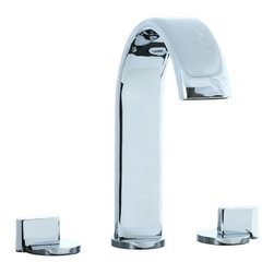 Cifial - Techno M3 3-Pc Hi-Arch Roman Tub Filler Trim - Color: Satin NickelManufacturer SKU: 231.650.625. Includes trim. Brass lever. Roman bath tub. Bath faucet. Three holes. Two lever handles. Non-deckplate mount. 10 in. spout height. High spout arc. 7.38 in. spout reach. Connection size: 0.5 NPT. Warranty: One year. Made in Portugal. 15.5 in. L x 15 in. W x 4.25 in. H (5.5 lbs.)