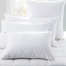 Garnet Hill - Garnet Hill Signature Primaloft Luxury Pillow - Continental - A luxurious pillow in Primaloft, a hypoallergenic alternative to down and two density options for your health because sleep is important, and what's right for you might not be right for your friend or spouse. Luxurious 400 thread count Supima cotton shell. Primaloft fill. Piped edges.