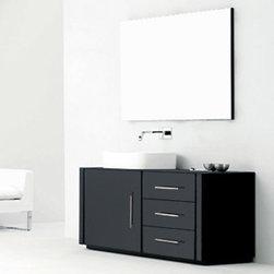 "Mia - Modern Bathroom Vanity Set 47"" - The Mia is a beautiful modern bathroom vanity set with a stylish wide wash basin."