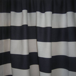 Custom Curtain Panels, Black by Only Linens - Bold stripes are fun, yet so chic.
