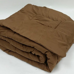 Bedding Web Store - Oversized Down Alternative Comforter 90 GSM-Chocolate - High Quality Oversized Down Alternative Comforter Super-Soft 90 GSM