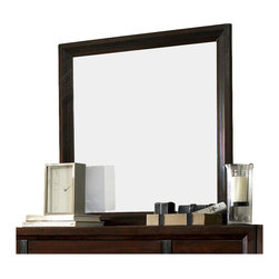 Broyhill - Broyhill Eastlake 2 Landscape Dresser Mirror in Warm Brown Cherry - Broyhill - Mirrors - 4264236 - About This Product: