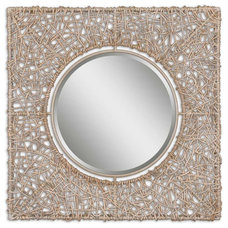 beach style mirrors by the essentials inside
