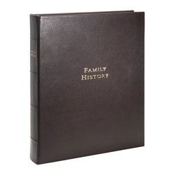 Family History Book Brights Leather - Chronicle your family history for generations to treasure.