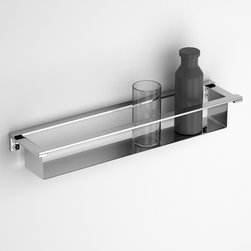 Componendo - Componendo | Flatty Towel Bar + Shelf - Made in Italy by Componendo.A part of the Flatty Collection. The Flatty Towel Bar and Shelf provides unwavering functionality with ample storage space. The built-in shelf under the towel rail provides a multi-function platform for both toiletry and towel storage. This Italian-designed accessory allows you to hang hand and bath towels while effortlessly housing essentials such as lotions and fragrances all in one compact wall-hung unit. Made from a high quality and non-corrosive stainless steel, the Flatty Towel Bar and Shelf will prove to withstand daily use. Select from a variety of sizes for the perfect fit. Product Features: