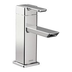 Moen - Moen 90 Degree One-Handle Low Arc Bathroom Faucet, Chrome (S6700) - Moen S6700 90 Degree One-Handle Low Arc Bathroom Faucet, Chrome