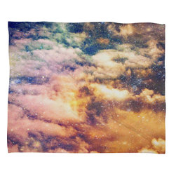 DENY Designs - Shannon Clark Cosmic Fleece Throw Blanket - This DENY fleece throw blanket may be the softest blanket ever! And we're not being overly dramatic here. In addition to being incredibly snuggly with it's plush fleece material, it's maching washable with no image fading. Plus, it comes in three different sizes: 80x60 (big enough for two), 60x50 (the fan favorite) and the 40x30. With all of these great features, we've found the perfect fleece blanket and an original gift! Full color front with white back. Custom printed in the USA for every order.