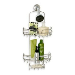 Zenith Products Corporation - Manhattan Stainless Steel Shower Caddy - This over-the-shower-head caddy provides a convenient spot to store bottles, soaps, razors, and more. The generous wire gauge of this rust-resistant caddy has a handsome look in stainless steel.