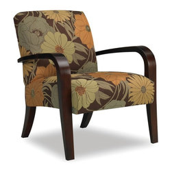 Sam Moore - Sam Moore Metro Exposed Wood Chair - Espresso Dark Brown - 4473.11/2613 ESPRESSO - Shop for Living Room Chairs from Hayneedle.com! Bring contemporary elegance home with the Sam Moore Metro Exposed Wood Chair - Espresso. Arched wooden curves drenched in rich espresso finish form both arms and legs to perfectly complement the oversized floral pattern fabric upholstery. A tight seat and welt trim add tailored distinction.About Sam MooreSince 1940 Sam Moore's hand-crafted upholstered furniture has offered extraordinary quality comfort and style. This Bedford Virginia-based company proudly crafts its products right here in the USA. From classic to transitional to contemporary styles Sam Moore takes time with every detail making sure each piece is something you'll appreciate in your home.
