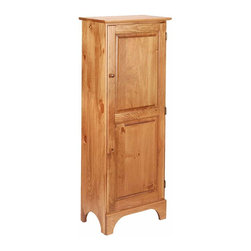 The Renovators Supply - Cupboards Honey Birch Jelly Cabinet Pine 52'' H | 115614 - Jelly Cabinet. Our classic shaker jelly cupboard makes the most of tight kitchen spaces. Four fixed shelves. This Jelly cupboard is made of birch and measures 52 in. H x 20 in. W x 11 3/4 in. proj. This primitive cupboard has a honey pine stain finish.