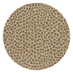 """Concord Global - Leopard Ivory 6'7""""X9'3"""" Rectangle Woven RugShaggy Collection - Contemporary designs and fresh colors are up to keep with today?s fashions, soft to the touch with plush bounce-back resilient quality. Best price for the shag in the market. Heat set machine made polypropylene rugs. Made in Turkey"""