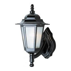 Joshua Marshal - One Light Black White Frosted Linen Texture Beveled Glass Wall Lantern - One Light Black White Frosted Linen Texture Beveled Glass Wall Lantern