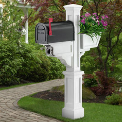 Signature Plus Mailbox Post - Pair the Signature Plus Mailbox Post with your choice of mailbox to create a unique look in front of your home. Features a newspaper holder and decorative planter box.