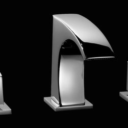 Maier faucets. - Macral Design faucets. Three hole sink faucet with swarovski crystal. - Double handle bathroom faucet. Chrome.