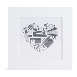Square Frame 4x4, White