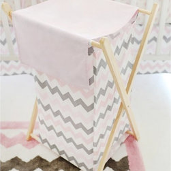 My Baby Sam - My Baby Sam Pink Chevron Hamper - HP172 - Shop for Hampers from Hayneedle.com! Keep nursery floors clear of dirty laundry in style with the My Baby Sam Pink Chevron Hamper. Made of 100% cotton this handy hamper features a chevron design in shades of pink and gray. This fashionable piece comes with a removable mesh liner and folds flat for storage when not in use. Machine-washable. A must-have every day nursery accessory.About My Baby Sam Inc.My Baby Sam was dreamed up by mom-of-three Tori Swaim in 2001. My Baby Sam provides a fun and diverse selection of baby bedding and kids room decor at an affordable price. With their bedding nursery and kids decor letters and baby gifts My Baby Sam products will help you create a dreamy nursery or your child s first big-kid room.About New Arrivals Inc.New Arrivals Inc. was started 15 years ago by mom-of-three Tori Swaim. What started as a small accessory and gift product line has grown into hundreds of products including bedding nursery and kid s room decor letters and baby gifts. New Arrivals Inc. is your one-stop-shop to designed and outfit the baby nursery or kid s room of your dreams.