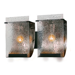 Varaluz - Varaluz 160B02 Rain 2 Light Bathroom Vanity Lights in Rainy Night - This 2 light Vanity from the Rain collection by Varaluz will enhance your home with a perfect mix of form and function. The features include a Rainy Night finish applied by experts. This item qualifies for free shipping!