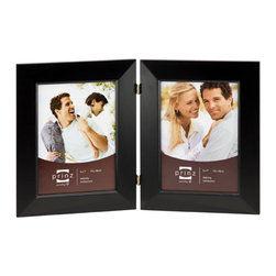 Origin Crafts - Dakota duo black 2 hinged frame (8x10) - Dakota Duo Black 2 Hinged Frame (8x10) Natural Pine wood,,velvet back, wall hangers. Dimensions (in): By Prinz - Prinz is a leading supplier of picture frames. At Prinz they are committed to offering unsurpassed design, quality, and value. Ships within five business days.
