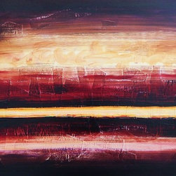 New Beginnings I (Original) by Jamie Lynn Moore - This mixed media piece represents a personal journey of creating something positive from an adversity. Although we cannot always control what happens to us as human beings, we can control how we react. This work is a reminder that no matter what you may go through, there is always light along the horizon beyond your present situation. I used a palette of rich browns, blues and reds to contrast the soft yellows for fierce visual impact.