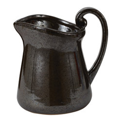 Lazy Susan - Black Acid Century Pitcher - -Not Water Tight