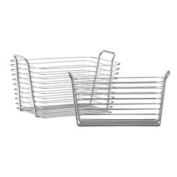 Chrome Baskets - These chrome baskets can add instant function in the kitchen, bathroom or even closet. Display fruits on your countertop, store rolled up towels in your bathroom or stash the kids' shoes in the closet.