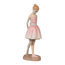 US - 8.75 Inch Porcelain Figurine Standing Young Girl Ballerina in Pink - This gorgeous 8.75 inch porcelain figurine standing young girl ballerina in pink has the finest details and highest quality you will find anywhere! 8.75 inch porcelain figurine standing young girl ballerina in pink is truly remarkable.
