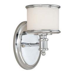 Vaxcel Lighting - Vaxcel Lighting CR-VLU001 Carlisle 1 Light Bathroom Sconce - Features: