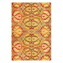 "Lifestyles 5466 Gold Firenze Rug - Lifestyles 5466 Gold Firenze 23"" x 35"". Machine-Made of 100% Heat-set Polypropelene with No Backing. Made in Turkey. Vacuum regularly & spot clean stains. Professional cleaning recommended periodically."