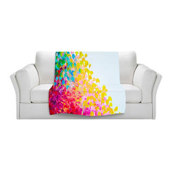 DiaNoche Designs - Throw Blanket Fleece - Creation in Color - Original Artwork printed to an ultra soft fleece Blanket for a unique look and feel of your living room couch or bedroom space.  DiaNoche Designs uses images from artists all over the world to create Illuminated art, Canvas Art, Sheets, Pillows, Duvets, Blankets and many other items that you can print to.  Every purchase supports an artist!
